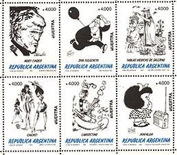Serie de estampillas de dibujantes argentinos, 1991